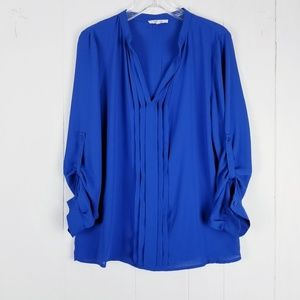 41 Hawthorne Pleated Top Size Large